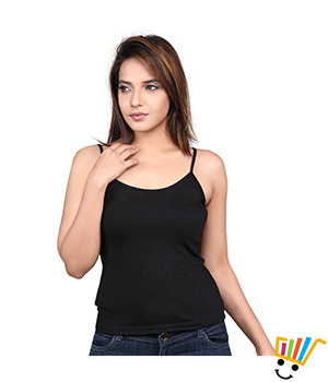 Clifton single strap camisole Black Color