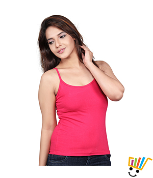 Clifton single strap camisole Dark pink Color