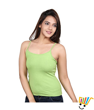 Clifton single strap camisole Parrot green Color