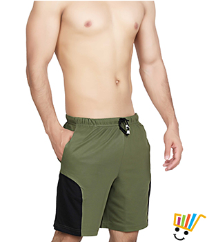 Clifton Mens Shorts - MB04 Olive Green Color