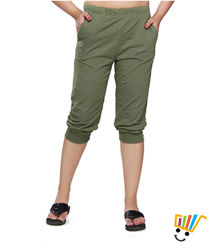 Clifton Womens Comfort Capri  Olive Color