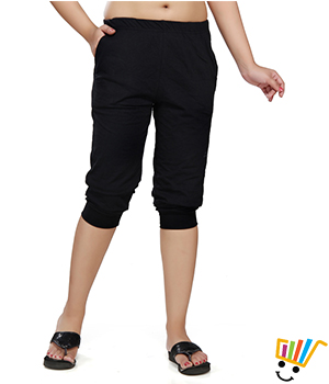 Clifton Womens Comfort Capri  Black Color