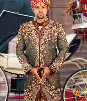 Remarkable Royal Sherwani Bl2047 With Embroidery Dhoti