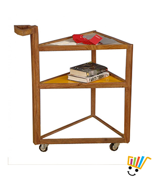 Jeyo 3 Shelf Table With Wheels - BT0267P
