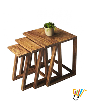 Jeyo Square Nested Tables Set Of 3 - BT1028K