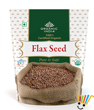 Organic India Flax Seed -Pack Of 2
