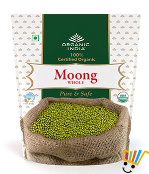 Organic India Moong Bean Whole - Pack Of 2