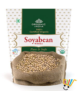 Organic India Soybean Whole Seed- Pack of 2
