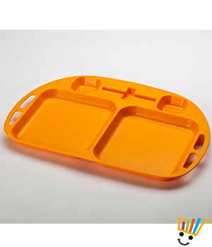 sQuare Serve and Dip Trays set of 3 Orange TRAYsq1_Or