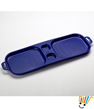 Xcelsior Long Serve and Dip Trays set of 2 blue TRAYxcl1_Bl