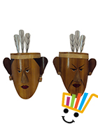 TRIBAL FACE PAIR - 1 PAIR