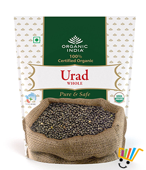 Organic India Urad Whole - Pack Of 2
