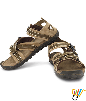 85348a85ac5a Buy Woodland Leather Casual Sandals Khaki 485108