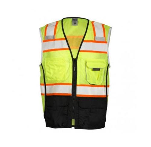 ML Kishigo Premium Black Series Black Bottom Lime Vest - 2 XL