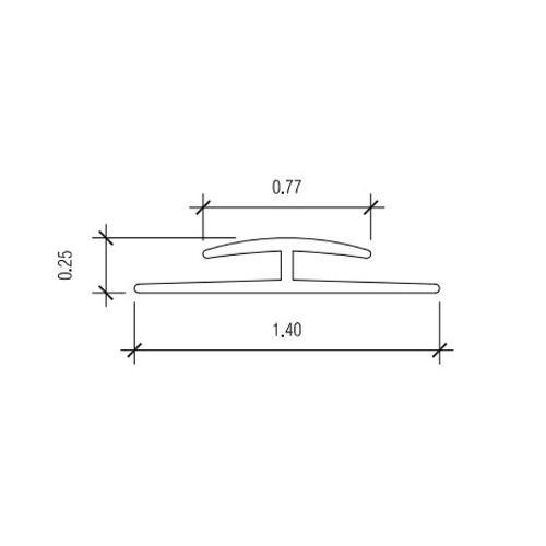 10 ft Nudo V-3 Wide Flange Division Bar Trim - White