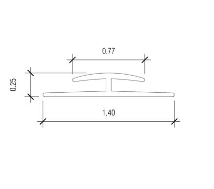 10 ft Nudo V-3WF Division Bar - White