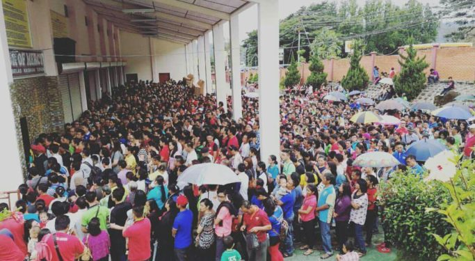 Participants getting ready to hear Sr. Emmanuel in Malaysia