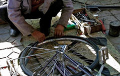 A Flat Bicycle Tire