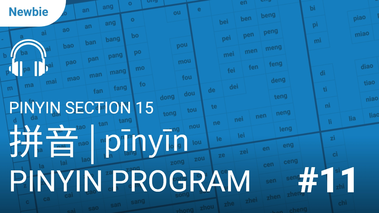 Pinyin Section 15