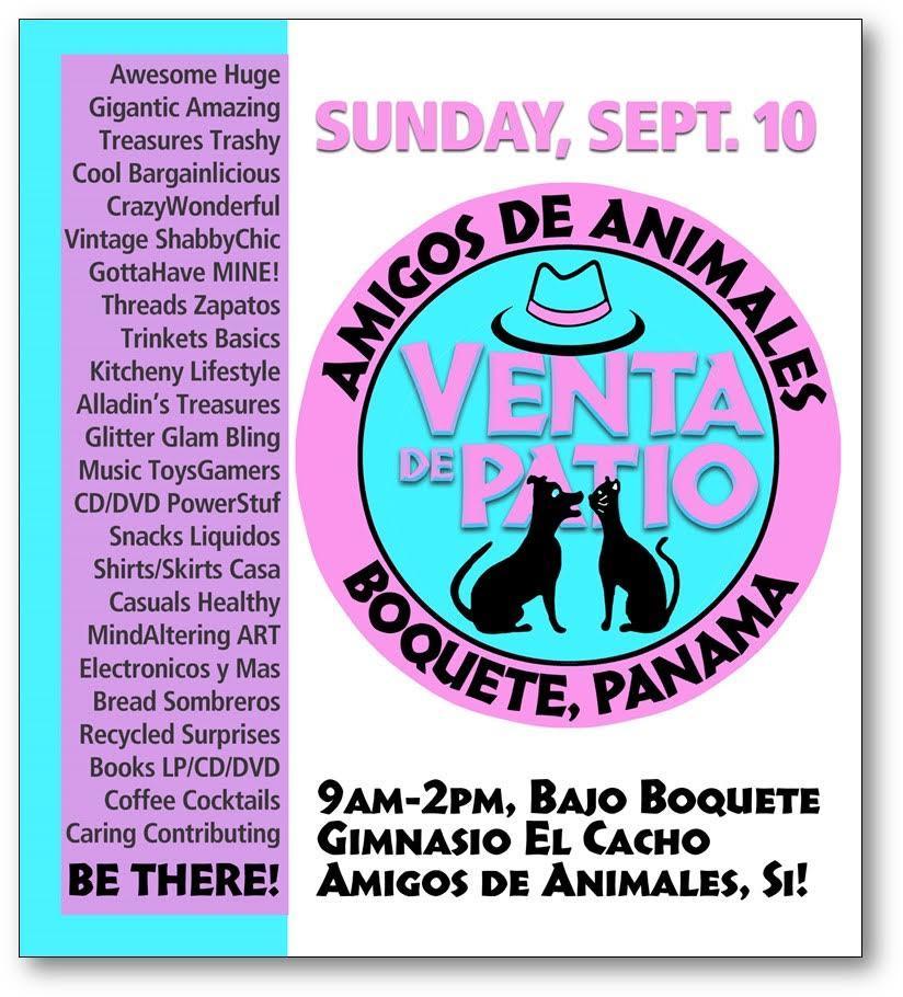 95b641128 Find Treasures Here - One Day Only! - Amigos de Animales de Boquete ...