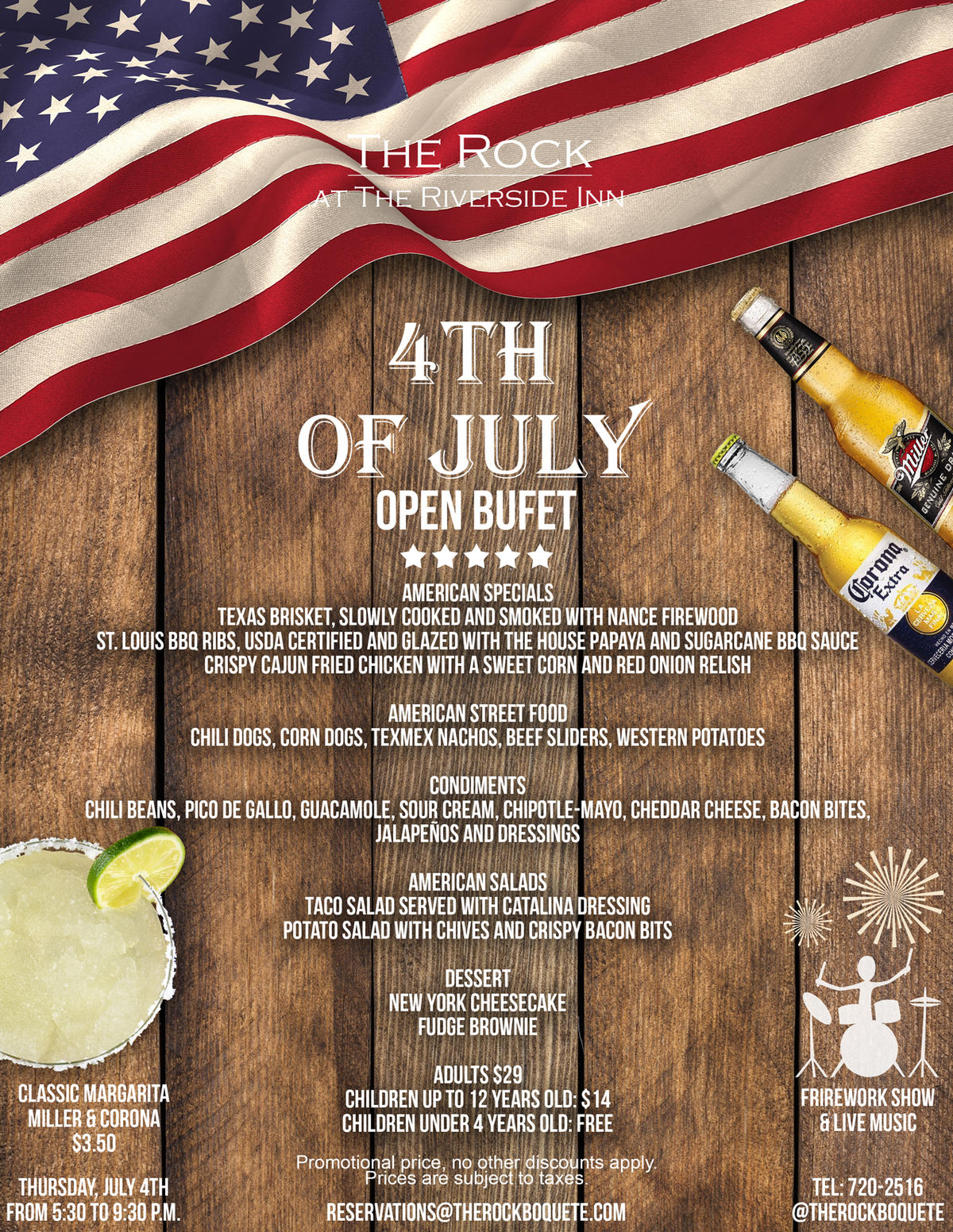 The Rock 4th of July Open Buffet - Community Events Calendar