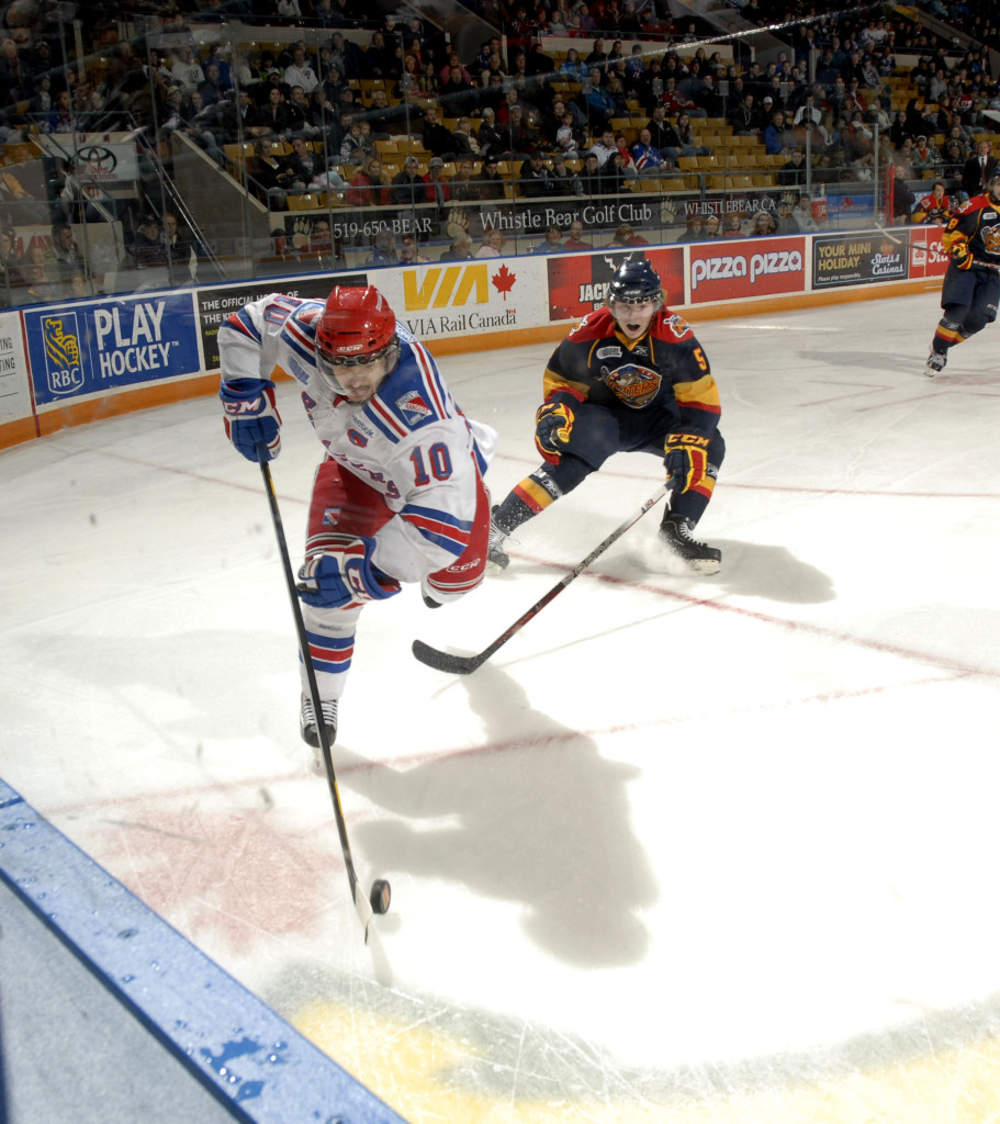 The Kitchener Record: Catenacci's Four Point Night Leads Rangers To 8-1 Win