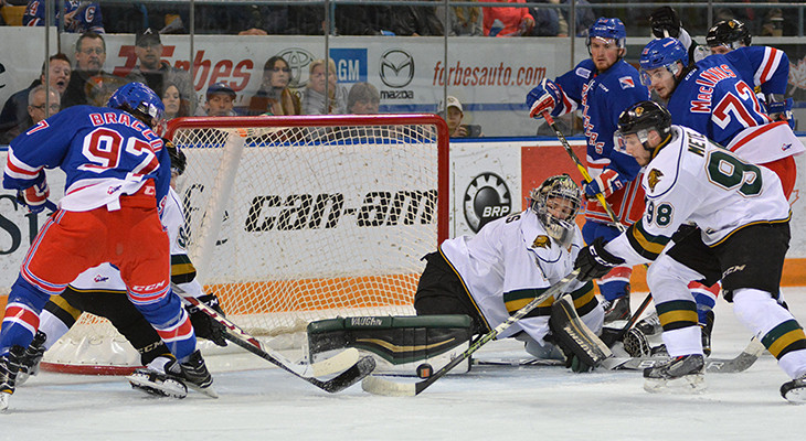 Semi final series, Kitchener Rangers versus London Knights at the Aud on April 12, 2016.