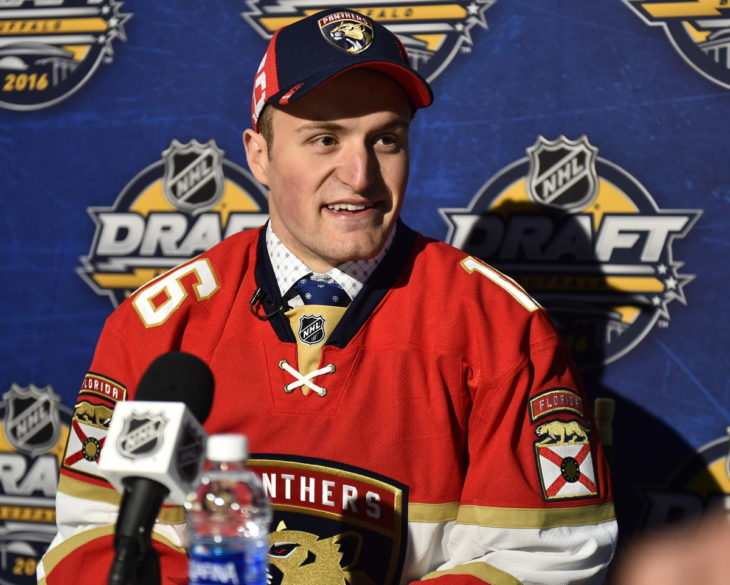Adam Mascarin at the 2016 NHL Draft in Buffalo, NY on Saturday June 25, 2016. Photo by Aaron Bell/CHL Images