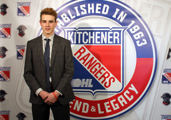 Grayson Ladd of the Chatham-Kent Cyclones, Kitchener Rangers first round selection, (13th overall) in the 2017 OHL Priority Selection.
