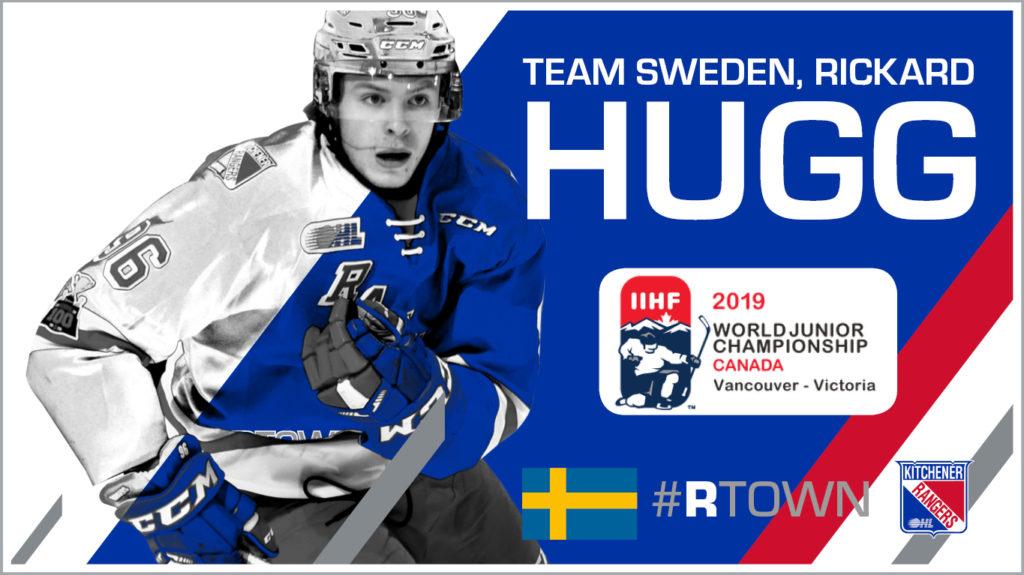Hugg Named To Final Roster For Team Sweden At World Juniors