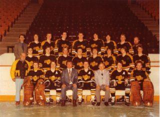 The 1978-79 Ed Chynoweth Cup champion Brandon Wheat Kings.