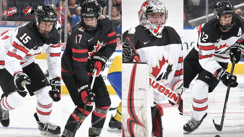 check out fb042 ca4be 11 WHL players win gold with Canada at 2018 Hlinka Gretzky ...