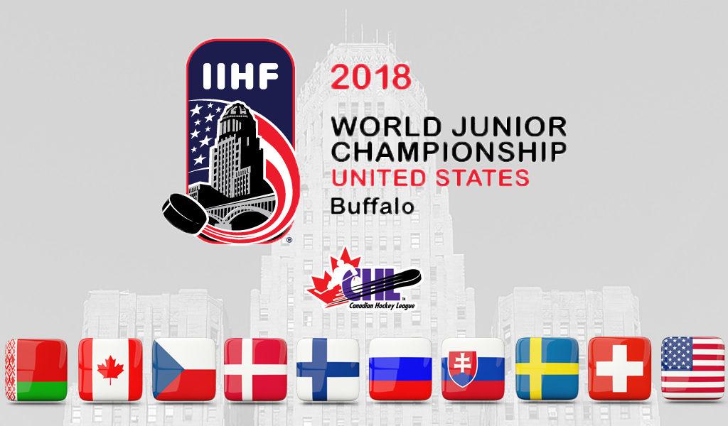 Chl Well Represented At 2018 Iihf World Junior Hockey Championship Chl