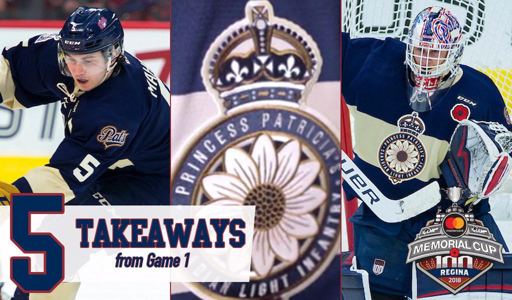 Five Takeaways From Regina S Opening Night Win Ontario Hockey League