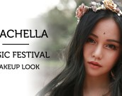 coachella music festival makeup cover