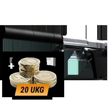 USP-S | Stainless (Minimal Wear) + 20 UKG