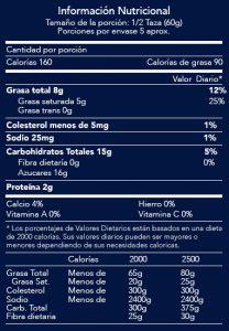tabla nutricional helado jet