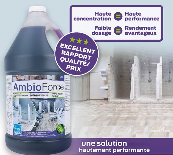 Le nettoyage des salles de bains révolutionné par l'AmbioForce