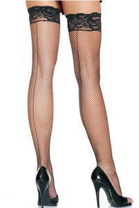 Back seam fishnet stockings lc7929 1