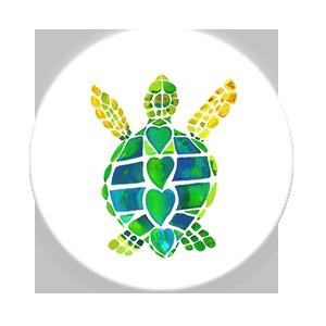 18 turtle love solo  single front grande
