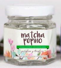 Mascarilla matcha pepino