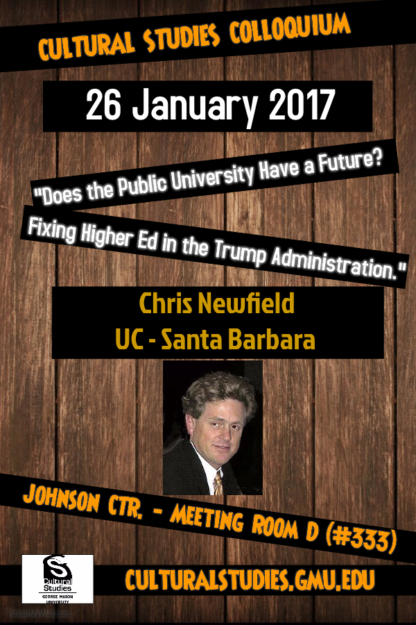 Chris newfield final flyer