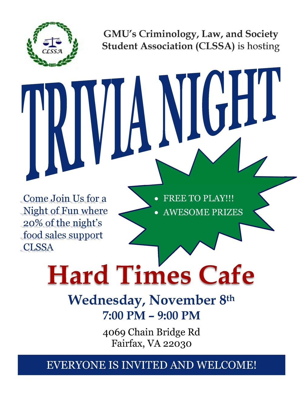 Trivia night flyer 2017