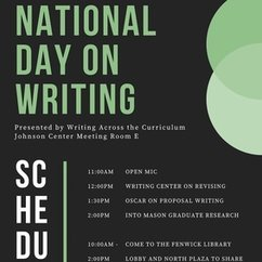 Friday, October 20th is the National Day on Writing!