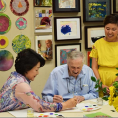 Alumna Beth Kim, '08 gets a visit from the first lady of South Korea at her art therapy studio