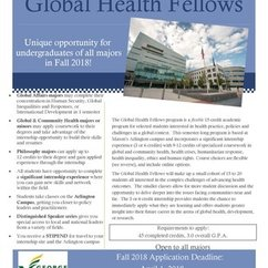 Global Health Fellows Relaunches for Fall 2018!