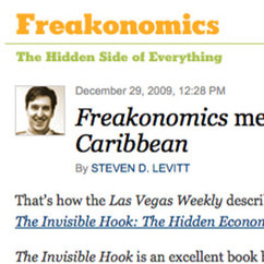 New York Times Columnist Describes Economics' Leeson as One of the Most Creative