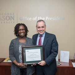HEP Student, Hermione Pickett, Named GMU's December Employee of the Month