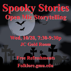 Spooky Stories - Open Mic Storytelling on October 28th