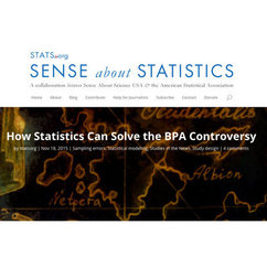 Dr. McKnight Shares 'How Statistics can Solve the BPA Controversy' on STATS.org